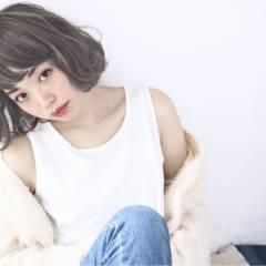 大人かわいい ショート ストリート 外国人風 ヘアスタイルや髪型の写真・画像