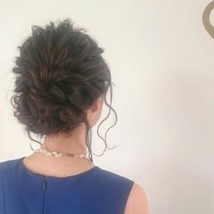 セミロング ゆるふわ ヘアアレンジ ドレス ヘアスタイルや髪型の写真・画像