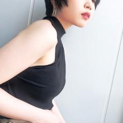 ショート 小顔 エレガント 上品 ヘアスタイルや髪型の写真・画像