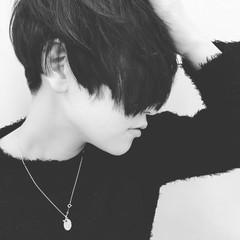 ナチュラル 黒髪 前髪なし 暗髪 ヘアスタイルや髪型の写真・画像