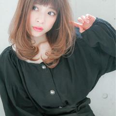 ミディアム 大人かわいい 艶髪 ゆるふわ ヘアスタイルや髪型の写真・画像