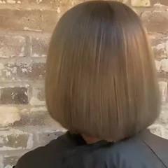 ブリーチカラー 圧倒的透明感 韓国風ヘアー ボブ ヘアスタイルや髪型の写真・画像