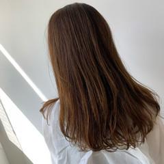 透明感カラー デジタルパーマ ロング ナチュラル ヘアスタイルや髪型の写真・画像