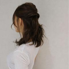ナチュラル ヘアアレンジ 外国人風 ミディアム ヘアスタイルや髪型の写真・画像