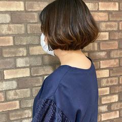 ボブ ミニボブ 大人ショート ナチュラル ヘアスタイルや髪型の写真・画像