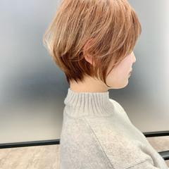 ベリーショート インナーカラー ショートボブ ショート ヘアスタイルや髪型の写真・画像