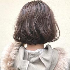 パーマ ナチュラル ボブ ボブ ヘアスタイルや髪型の写真・画像