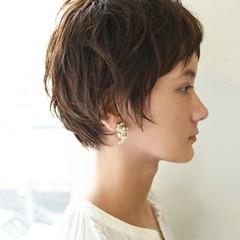 外国人風 ナチュラル 秋 前髪あり ヘアスタイルや髪型の写真・画像