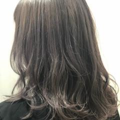 大人かわいい 春色 ミディアム フェミニン ヘアスタイルや髪型の写真・画像