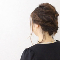 女子会 ナチュラル ヘアアレンジ ゆるふわ ヘアスタイルや髪型の写真・画像