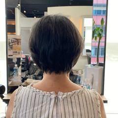 ショート お手入れ簡単!! 大人可愛い フェミニン ヘアスタイルや髪型の写真・画像