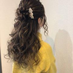結婚式ヘアアレンジ 結婚式 ヘアセット フェミニン ヘアスタイルや髪型の写真・画像