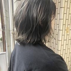 外国人風カラー ロブ ボブ バレイヤージュ ヘアスタイルや髪型の写真・画像