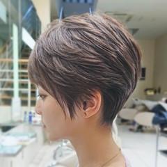 ショート ショートヘア ベリーショート ハイライト ヘアスタイルや髪型の写真・画像