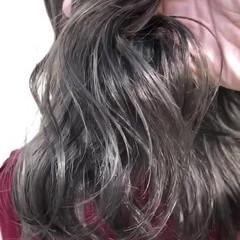 セミロング モード グラデーションカラー 外国人風カラー ヘアスタイルや髪型の写真・画像