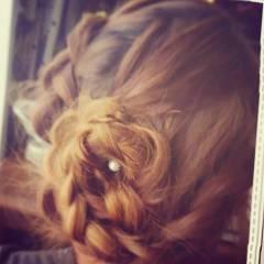 ショート 簡単ヘアアレンジ ロング 編み込み ヘアスタイルや髪型の写真・画像