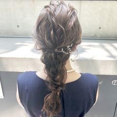 ヘアアレンジ ヘアセット 結婚式ヘアアレンジ フェミニン ヘアスタイルや髪型の写真・画像