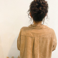 お団子アレンジ ロング ヘアセット フェミニン ヘアスタイルや髪型の写真・画像