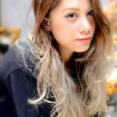 外国人風 ロング 春 グラデーションカラー ヘアスタイルや髪型の写真・画像