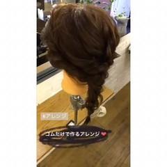 セミロング 簡単ヘアアレンジ 成人式 謝恩会 ヘアスタイルや髪型の写真・画像