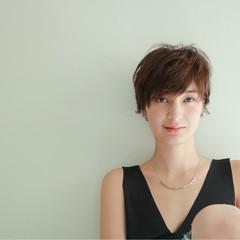 ナチュラル ショート リラックス ヘアスタイルや髪型の写真・画像