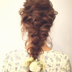 ヘアアレンジ ロング 夏 結婚式 ヘアスタイルや髪型の写真・画像