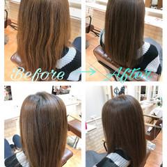 アッシュグレージュ 外国人風カラー ロング ナチュラル ヘアスタイルや髪型の写真・画像