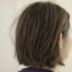 ボブ ウェットヘア 暗髪 ストリート ヘアスタイルや髪型の写真・画像