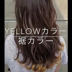 夏 セミロング アウトドア デート ヘアスタイルや髪型の写真・画像