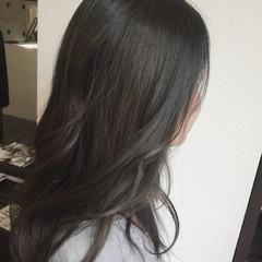 ストリート カーキアッシュ ロング グラデーションカラー ヘアスタイルや髪型の写真・画像