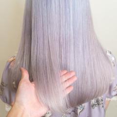 派手髪 ガーリー デザインカラー ハイトーンカラー ヘアスタイルや髪型の写真・画像