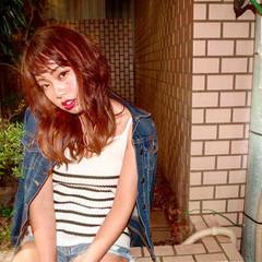 セミロング ヘアアレンジ ストリート アンニュイ ヘアスタイルや髪型の写真・画像