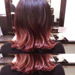 ボブ ガーリー ピンク 色気 ヘアスタイルや髪型の写真・画像