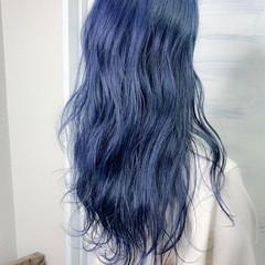 ロング ブルー ブルージュ 透明感カラー ヘアスタイルや髪型の写真・画像