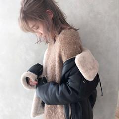ヘアアレンジ ミディアム ハイライト アッシュ ヘアスタイルや髪型の写真・画像