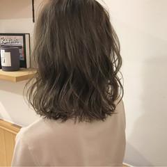 ロブ 秋 透明感 ナチュラル ヘアスタイルや髪型の写真・画像
