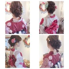 お団子 デート ロング 大人かわいい ヘアスタイルや髪型の写真・画像