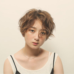 女子力 ショート エフォートレス ナチュラル ヘアスタイルや髪型の写真・画像