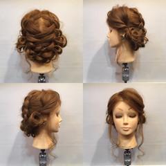 成人式 ヘアアレンジ 編み込み 謝恩会 ヘアスタイルや髪型の写真・画像