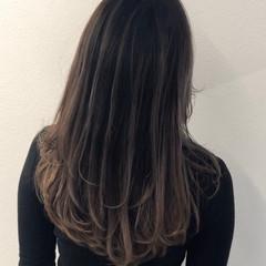 外国人風カラー 成人式 セミロング バレイヤージュ ヘアスタイルや髪型の写真・画像