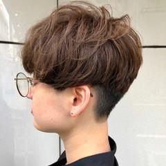 ショート ブリーチなし アディクシーカラー ショートヘア ヘアスタイルや髪型の写真・画像