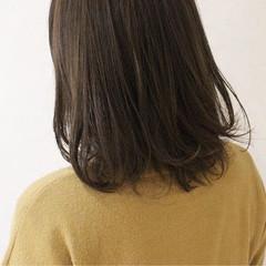 ハイライト アッシュ 透明感 ミディアム ヘアスタイルや髪型の写真・画像