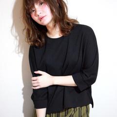 セミロング 外国人風 大人かわいい 透明感 ヘアスタイルや髪型の写真・画像