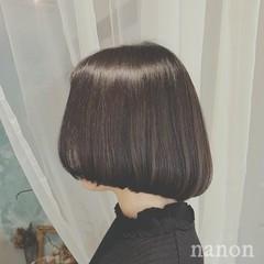 デート 黒髪 ボブ モード ヘアスタイルや髪型の写真・画像