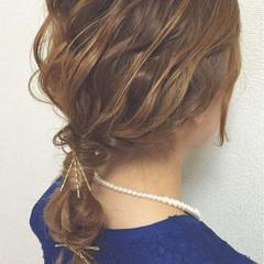 簡単ヘアアレンジ パーティ ヘアアレンジ ヘアアクセ ヘアスタイルや髪型の写真・画像