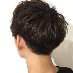 マッシュヘア メンズパーマ メンズヘア ショート ヘアスタイルや髪型の写真・画像