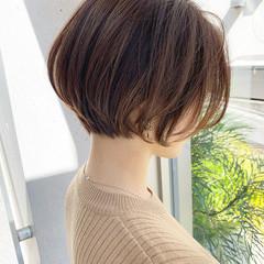 ショートボブ ショート 大人可愛い ナチュラル ヘアスタイルや髪型の写真・画像