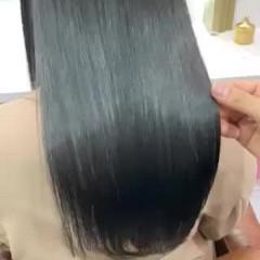 ロング 可愛い 艶カラー ナチュラル ヘアスタイルや髪型の写真・画像