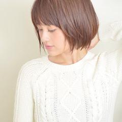 ミルクティー ショート 色気 ボブ ヘアスタイルや髪型の写真・画像