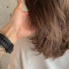 グレージュ ナチュラル ハイライト ラベンダーグレージュ ヘアスタイルや髪型の写真・画像